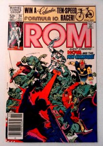 Rom #24 Marvel 1981 VF Bronze Age Comic Book 1st Print