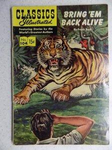 Classics Illustrated #104 (1953) HRN 118