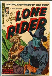 Lone Rider #10 1952-Ajax-masked-western-secret identity hero-GOOD