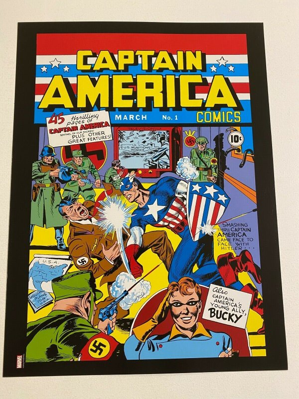 Captain America #1 Marvel Comic poster by Jack Kirby