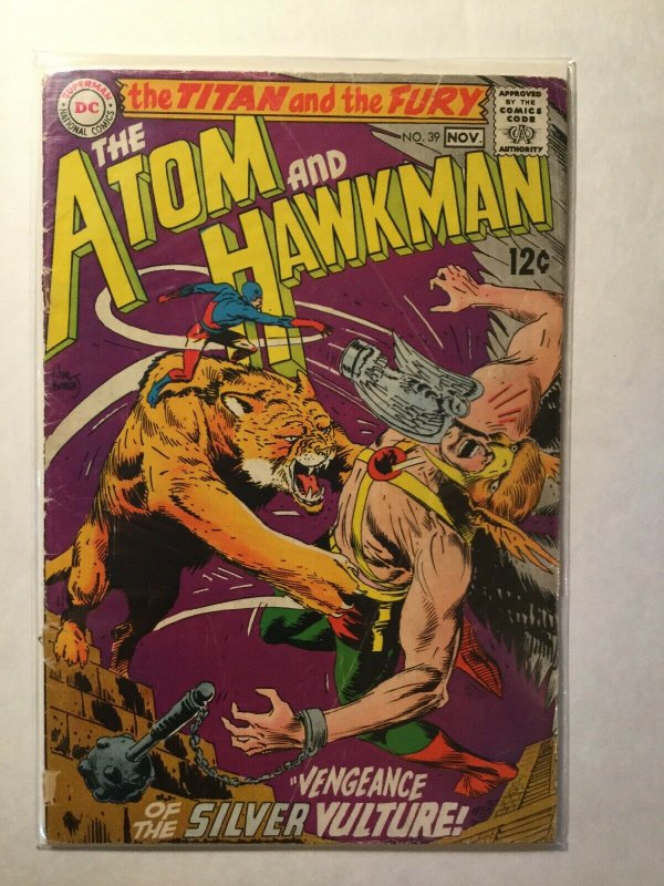 The Atom And Hawkman 39 Good Gd 2.0 Cover Detached DC Comics