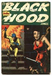 BLACK HOOD #17 1946-Kinstler BONDAGE cover-Archie-Golden-Age