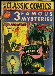 CLASSIC COMICS #21-3 FAMOUS MYSTERIES-HRN 21-fair/good FR/G