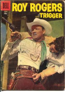 Roy Rogers and Trigger #111 1957-Dell-photo cover-western stories-Alex Toth-G/VG
