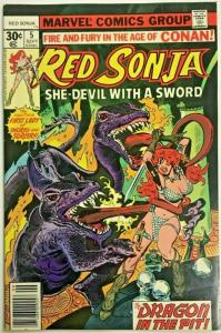 RED SONJA#5 FN/VF 1977 MARVEL BRONZE AGE COMICS