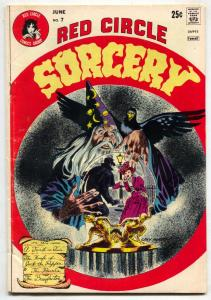 Red Circle Sorcery #7 1974- Gray Morrow- Horror VG