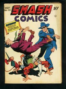 SMASH COMICS #53  1944-QUALITY COMICS-LADY LUCK-MIDNIGHT-very good minus VG-