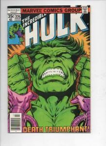 HULK #225, FN, Incredible, Bruce Banner, Samson, 1968 1978, Marvel