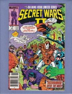 Secret Wars II #5 VG/FN Front/Back Cover Scans Marvel 1985