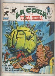 Super Heroes volumen 2 numero 46: La Cosa y La Viuda Negra (numerado 1 en tra...