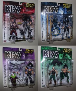Kiss Psycho Circus Figures (SET of 4) McFarlane Toys 1998