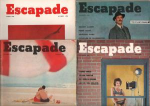 Escapade-Vintage Man's Magazine Lot of 15 1950's-cheesecake-pulp fiction-VG