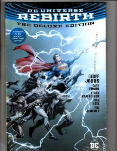 DC Universe Rebirth Deluxe Edition SEALED Hardcover DC Comics Comic Book  J285