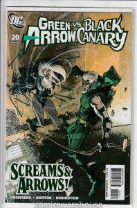 GREEN ARROW/BLACK CANARY (2007 DC) #20 NM A16453