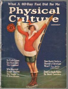 Physical Culture 1/1926-pin-up girl cover-swimsuit pix-pulp fiction-G-