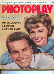 Photoplay-Natalie Wood-Bob Wagner-Kim Novak-Stewart Granger-Feb-1959
