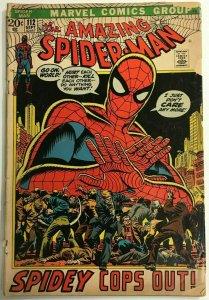AMAZING SPIDER-MAN#112 GD 1972 MARVEL BRONZE AGE COMICS