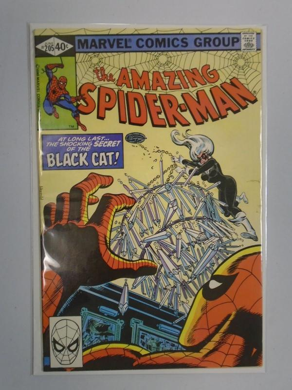 Amazing Spider-Man (1st Series) #205 Black Cat 6.0 (1980)