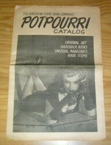 American Comic Book Company's Potpourri Catalogue VG george gross cover