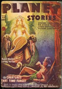 Planet Stories -Fall 1946-Fiction House-Ray Bradbury-Golden Girl-Basil Wells-VG-