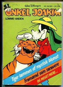 Onkel Joakim #26 1981-Disney-Danish-Uncle Scrooge-Carl Barks-Mickey Mouse-VG