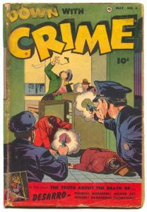 Down With Crime #4 1952-Fawcett-DESARRO STORY- G