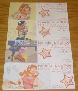 Bonnie N. Collide: Nine to Five #1-4 VF/NM complete set rollergirl @ day job 2 3