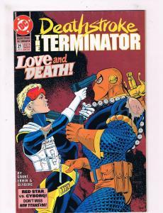 Deathstroke The Terminator #21 VF/NM 1st Print DC Comic Book Grant DE3