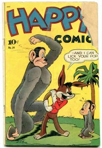 Happy Comics #29 1949- Frazetta text illustration- Golden Age Funny Animals F/G