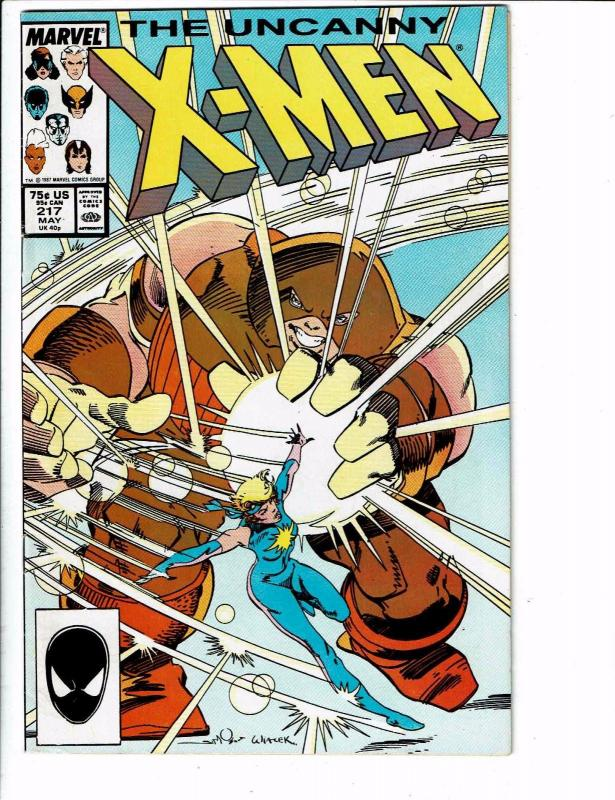 Uncanny X-Men # 217 VF Marvel Comic Book Psylocke Wolverine