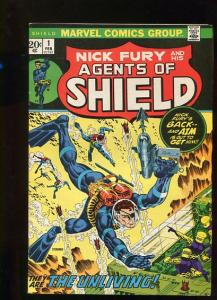 NICK FURY AGENTS OF SHIELD1 # 1   (1972)  9.2  WHITE PGS BEAUTIFUL HI GRADE