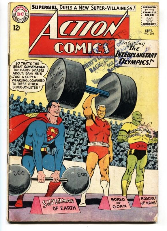 ACTION COMICS #304 1st BLACK FLAME comic book 1963-SUPERMAN-