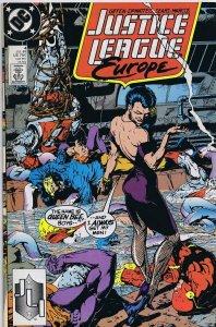 Justice League Europe #4 ORIGINAL Vintage 1989 DC Comics Queen Bee GGA