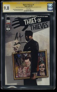 Thief of Thieves #1 CGC NM/M 9.8 SS Signed Kirkman + 3 More!