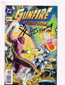 Gunfire #9 VF DC Comic Book SIGNED By Paul Kupperberg 1st Print Just. League DE3