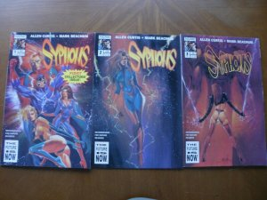 3 NOW Collector Comic: SYPHONS #1 #2 #3 (1994) COMPLETE SET (Mature Reader)
