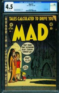 MAD #1-1952-CGC 4.5-HARVEY KURTZMAN-First issue-2097458001