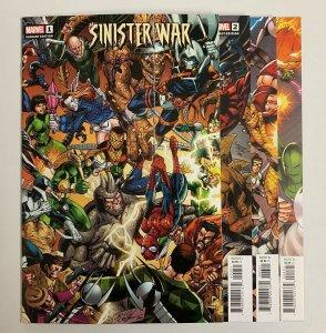 Sinister War #1-4 Set (Marvel 2021) 1 2 3 4  Bagley Connecting Variants (9.2+)