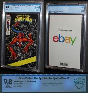 Spectacular Spiderman Ebay Variant #1  /  CBCS 9.8 NM-MT  /   2017