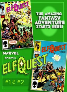 ELFQUEST #1 & #2 from Marvel (Aug/Sept 1985) • Wendy Pini's Epic Fantasy!