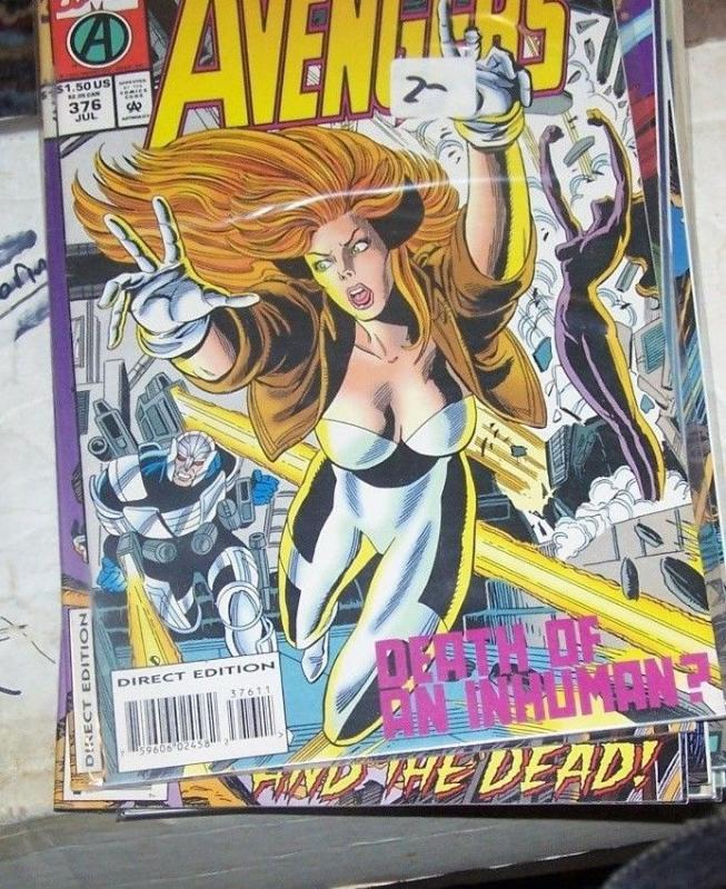 Avengers # 376 Jul 1994, Marvel INHUMANS CRYSTAL QUICKSILVER THOR CAPTAIN AMERI
