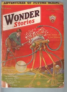 WONDER STORIES 2/1932SCI-FI PULP-WAR OF THE WORLDS! G/VG