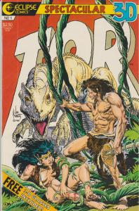 3-D TOR #1 - 3-D Comic from Eclipse - Art by Joe Kubert
