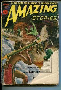 Amazing Stories 3/1952-Ziff-Davis-pulp sci-fi-bazooka blast-John Bloodstone-FR/G