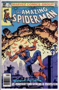 Amazing SPIDER-MAN #218, FN+, Frank Miller, Romita,1963, more ASM in store