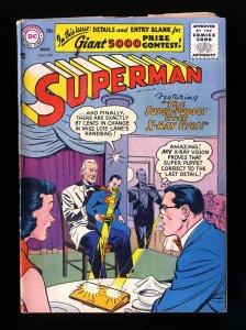Superman #109 VG 4.0 DC Comics