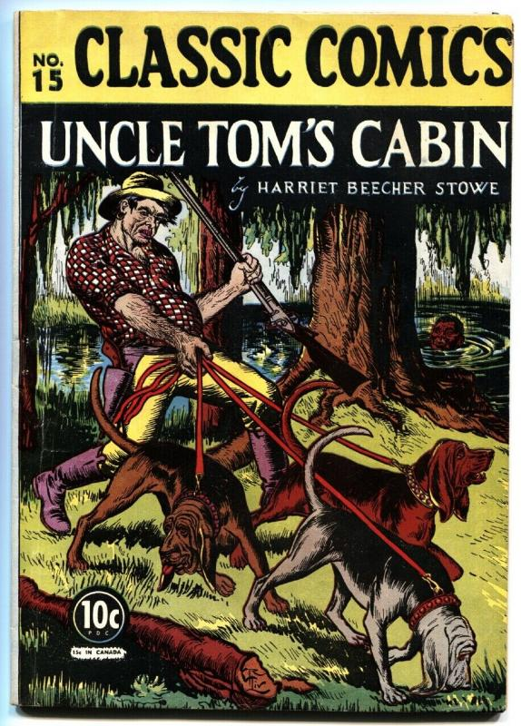 CLASSIC COMICS #15-Uncle Tom's Cabin-1st EDITION-First Print HRN 14-Comic