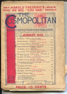 Cosmopolitan 1/1898-Cocaine for the hair-Spanish American War-Remington-G/VG
