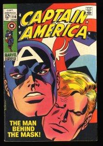 Captain America #114 VF- 7.5