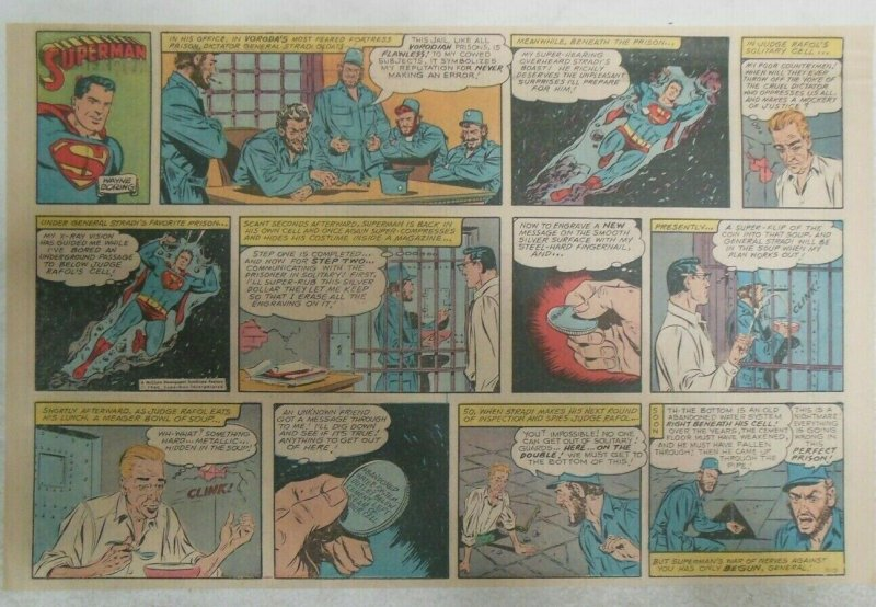 Superman Sunday Page #1110 by Wayne Boring from 1/21/1961 Size ~11 x 15 inches